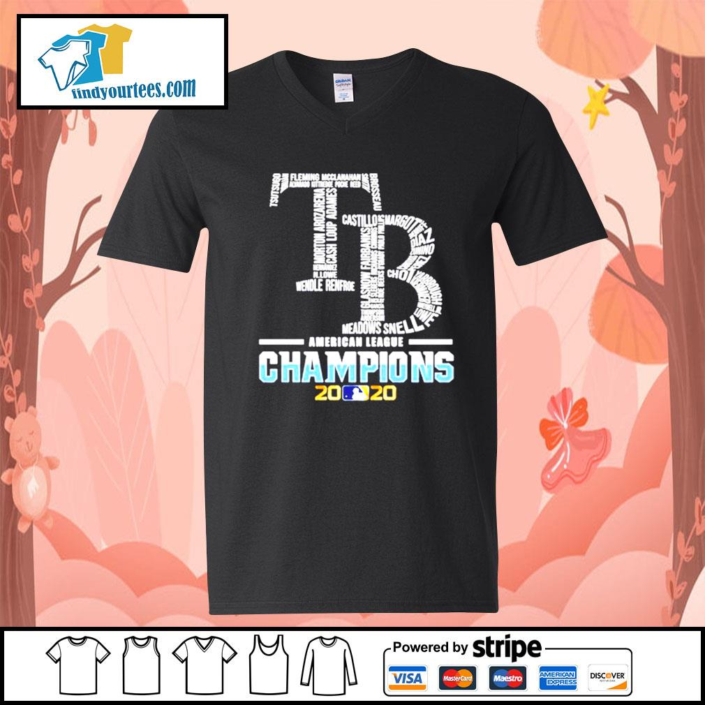 Tampa Bay Rays American League Champions 2020 s V-neck-T-shirt