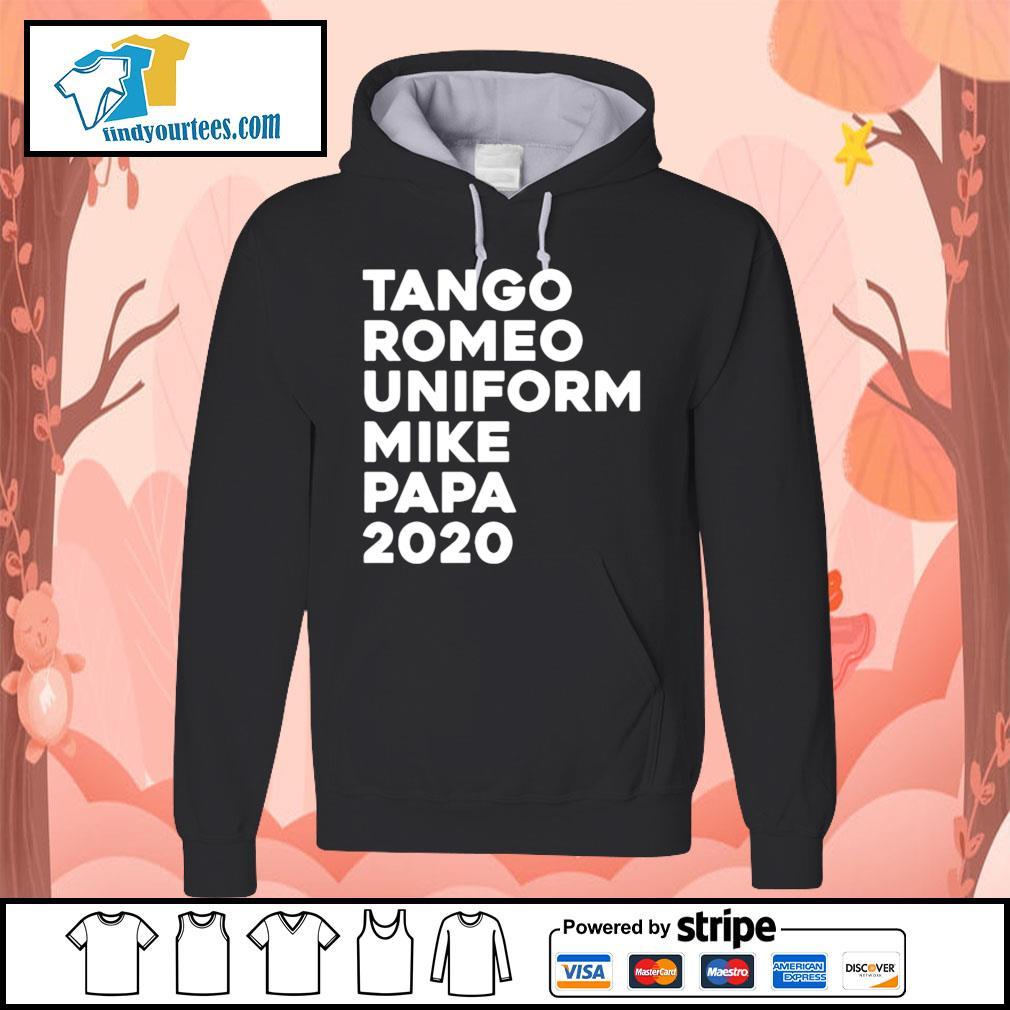 Tango Romeo uniform mike papa 2020 s Hoodie