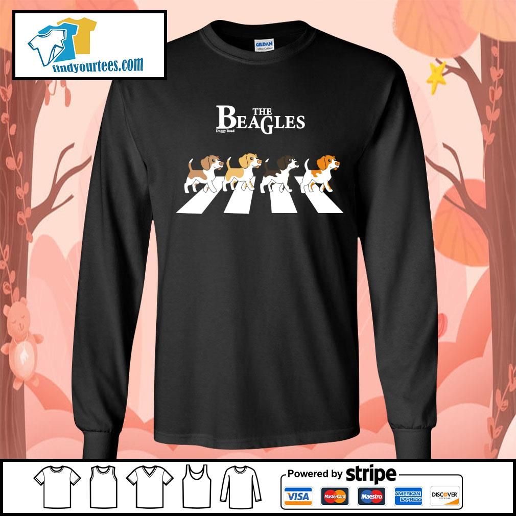 The Beagles parody The Beatles abbey road s Long-Sleeves-Tee