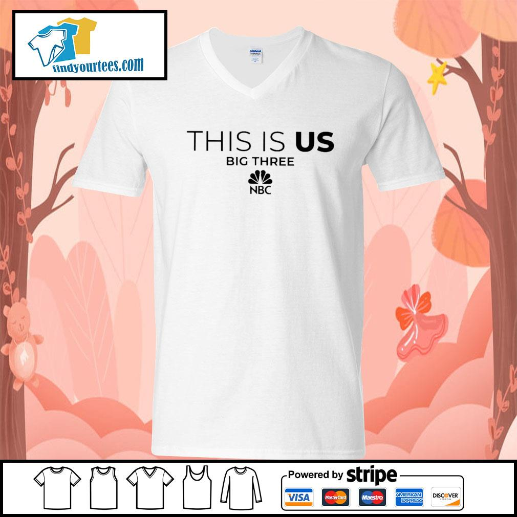 This is us big three NBC s V-neck-T-shirt