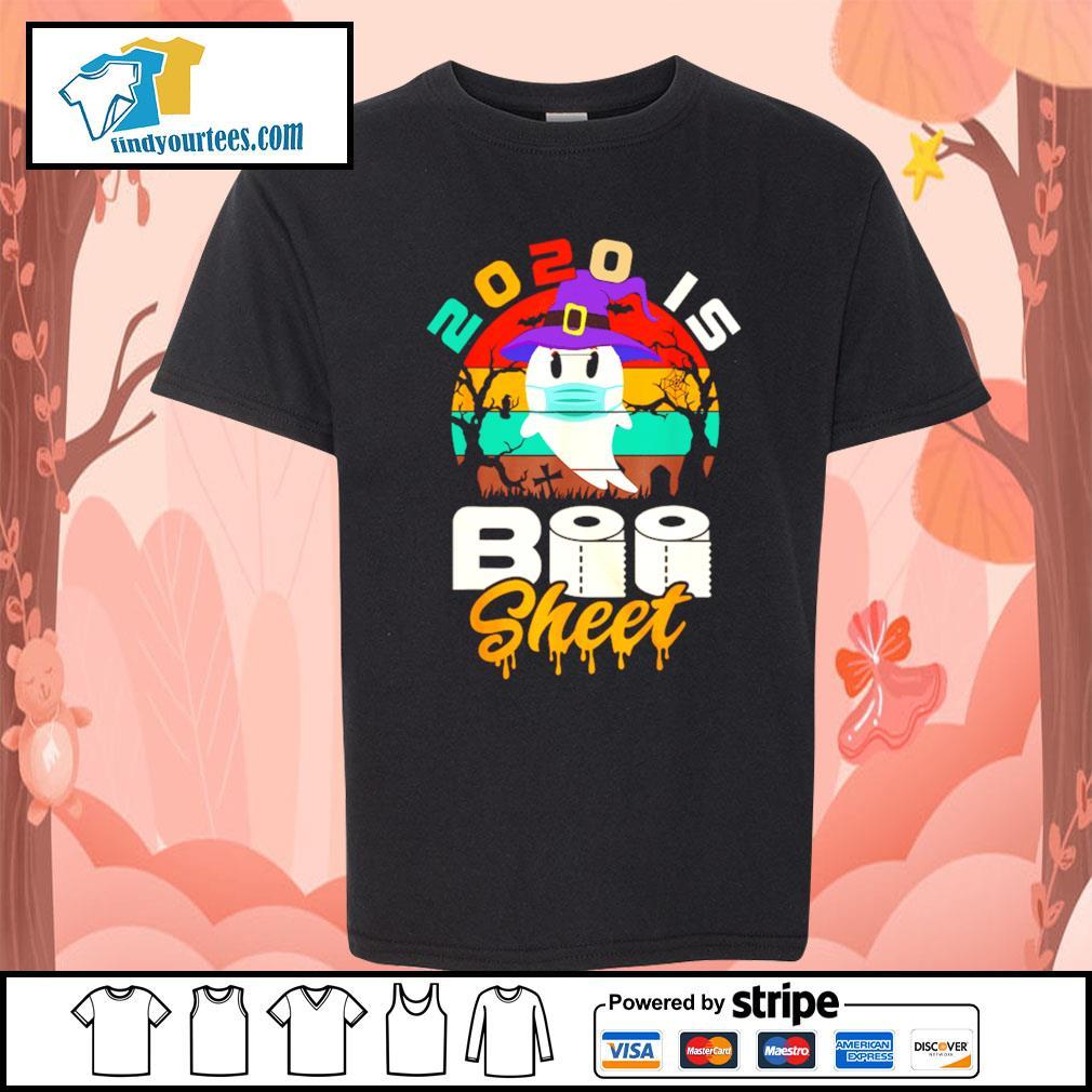 Toilet Paper 2020 is boo sheet Halloween vintage s Kid-T-shirt