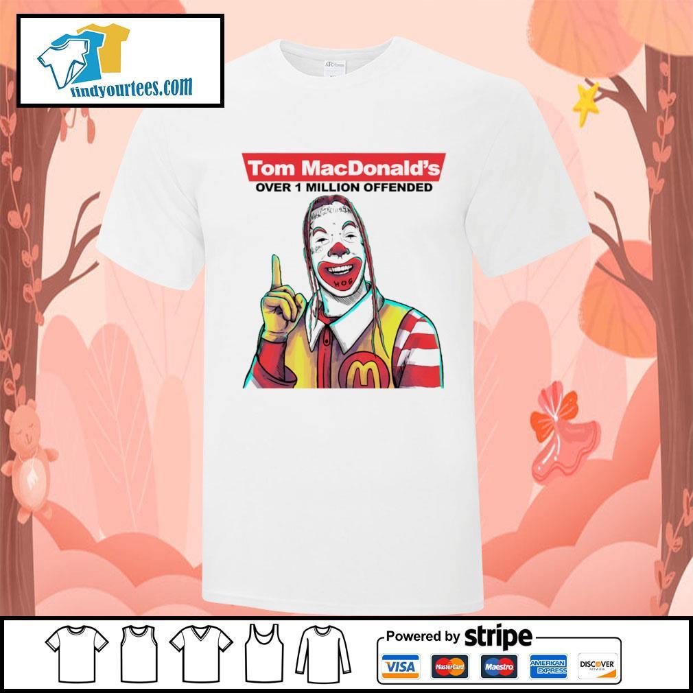 Tom Macdonald over 1 million offender shirt