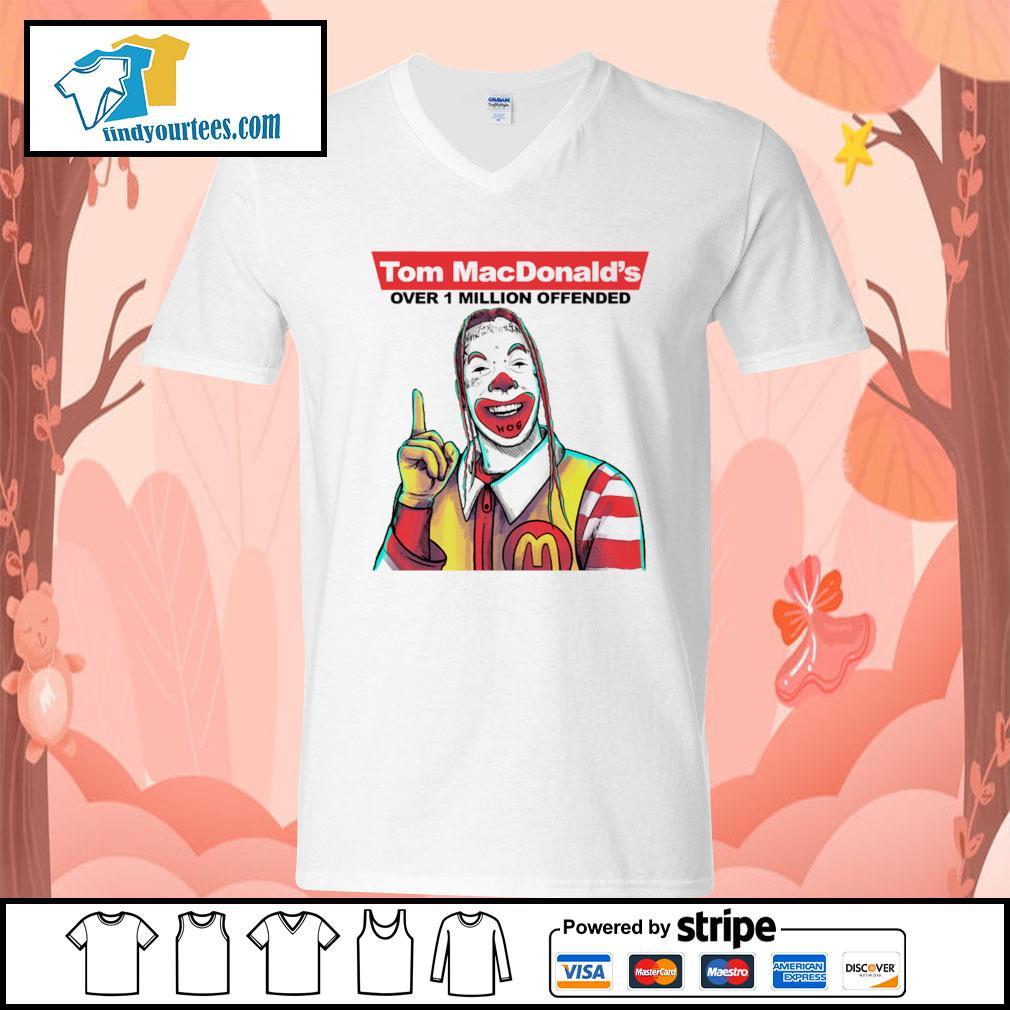 Tom Macdonald over 1 million offender s V-neck-T-shirt