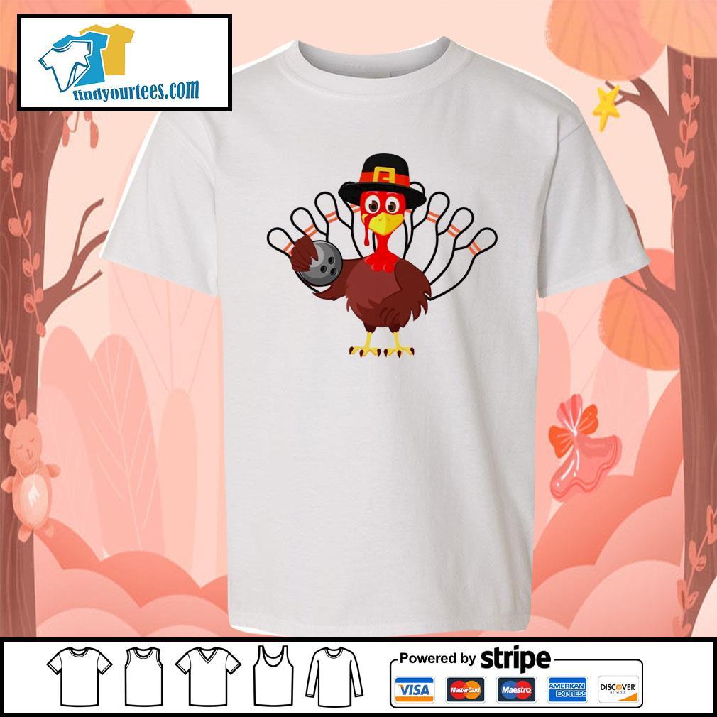 Turkey bowling Thanksgiving s Kid-T-shirt