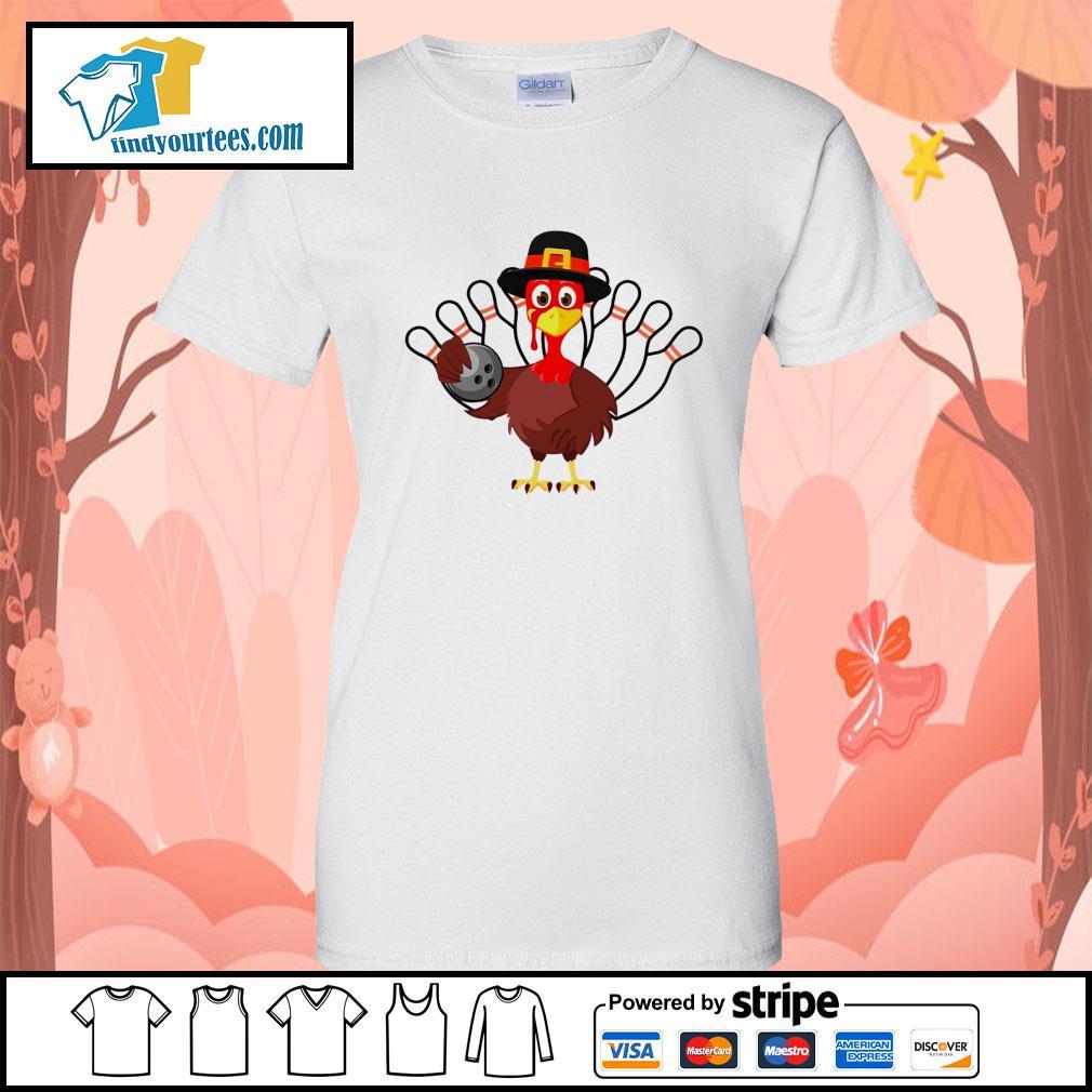 Turkey bowling Thanksgiving s Ladies-Tee