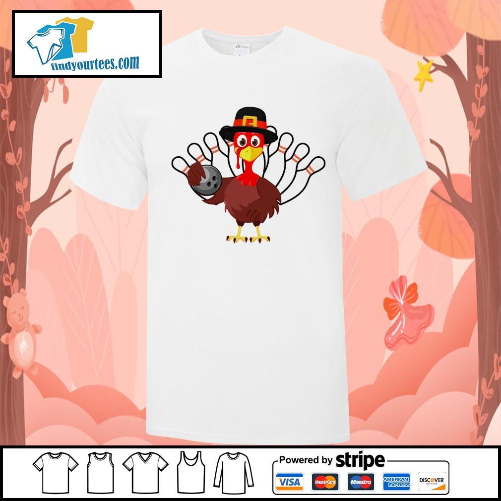 Turkey bowling Thanksgiving shirt