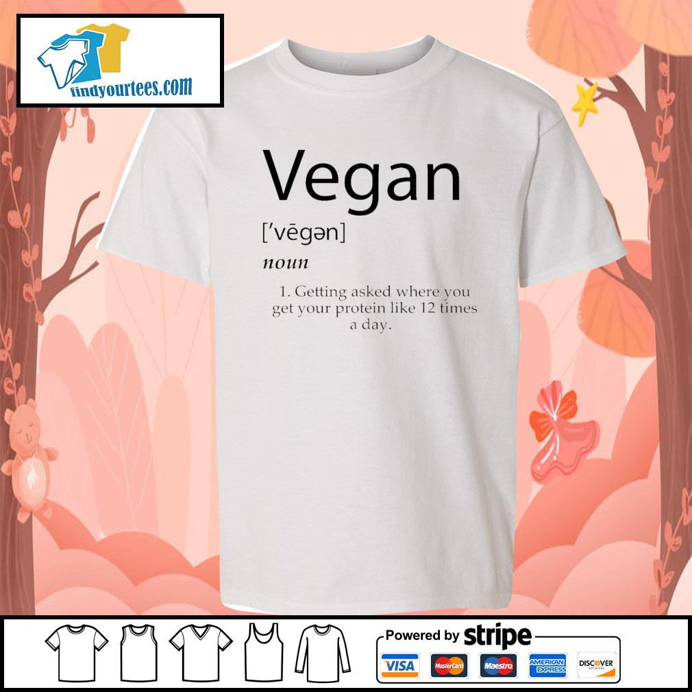 Vegan getting asked where you get your protein like 12 times a day s Kid-T-shirt