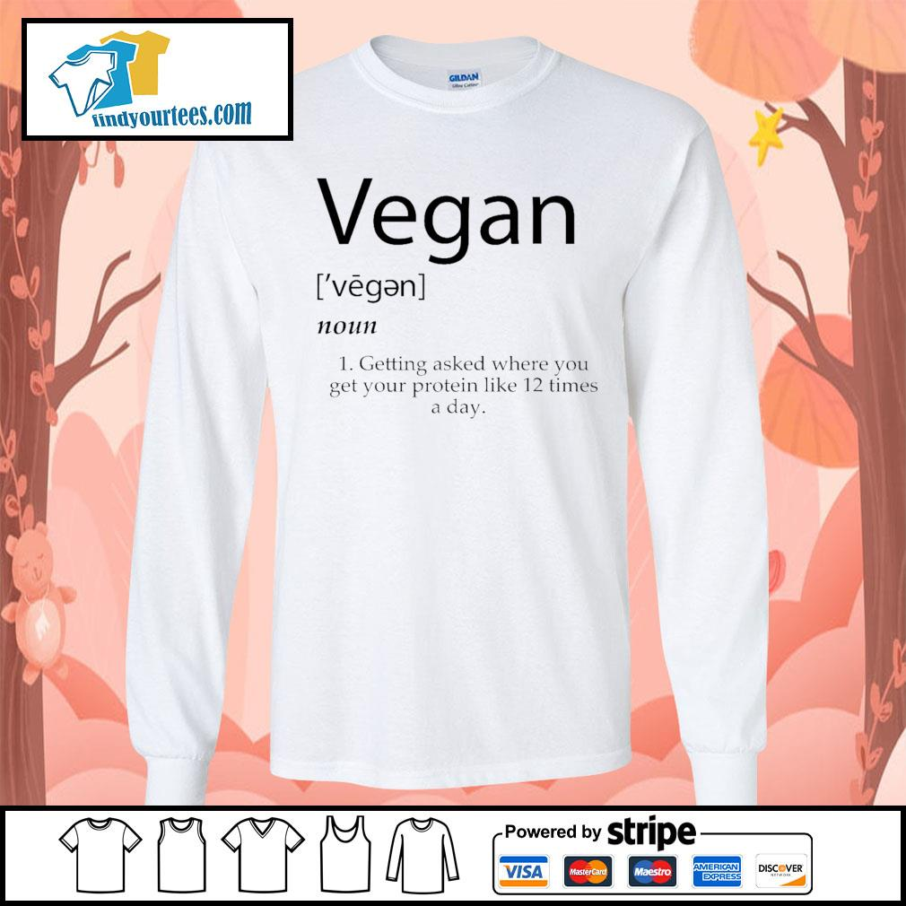 Vegan getting asked where you get your protein like 12 times a day s Long-Sleeves-Tee