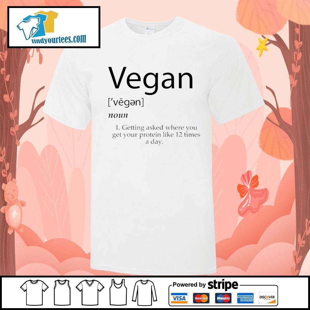 Vegan getting asked where you get your protein like 12 times a day shirt