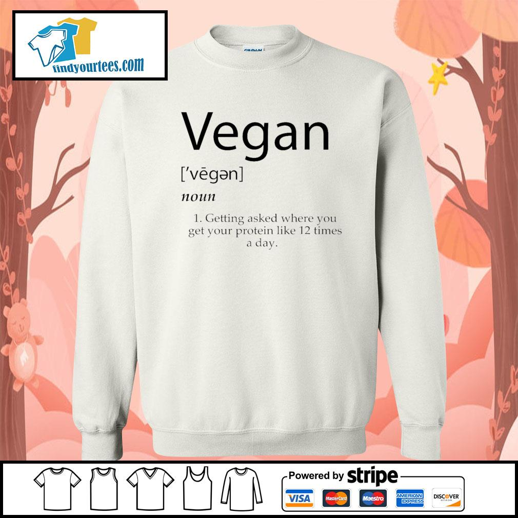 Vegan getting asked where you get your protein like 12 times a day s Sweater