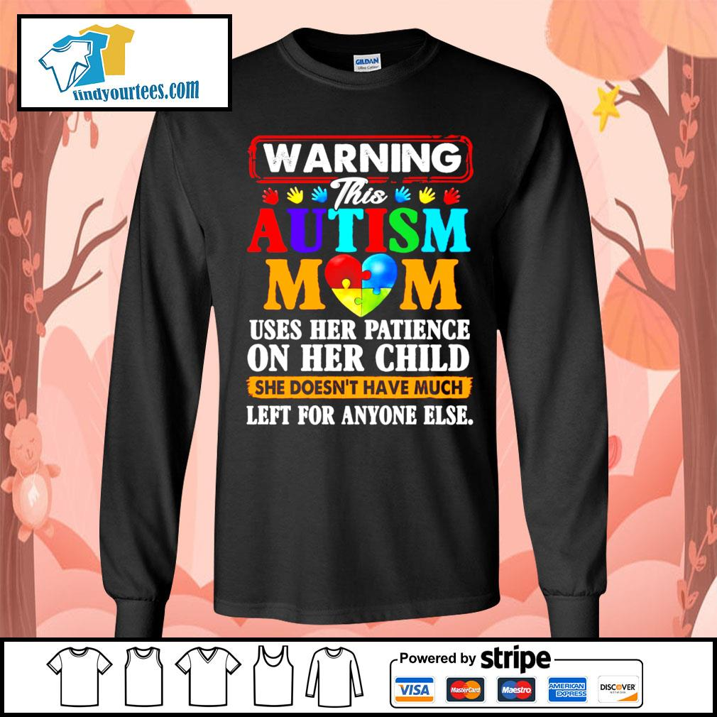 Warning this Autism mom uses her patience on her child she doesn't have s Long-Sleeves-Tee