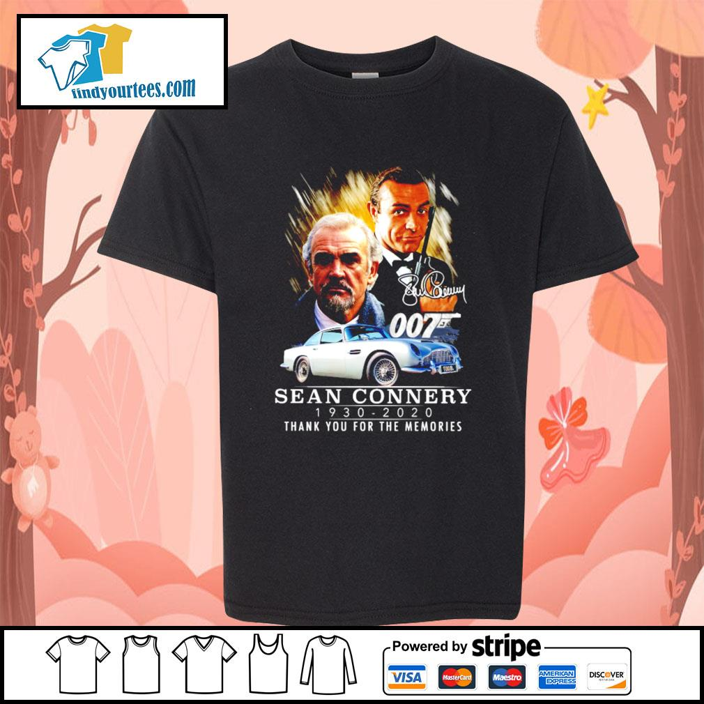 007 Sean Connery 1930 2020 thank you for the memories signature s Kid-T-shirt