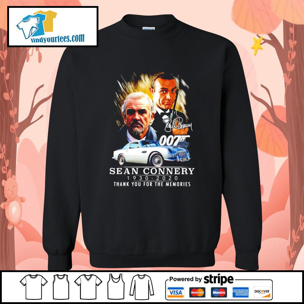 007 Sean Connery 1930 2020 thank you for the memories signature s Sweater