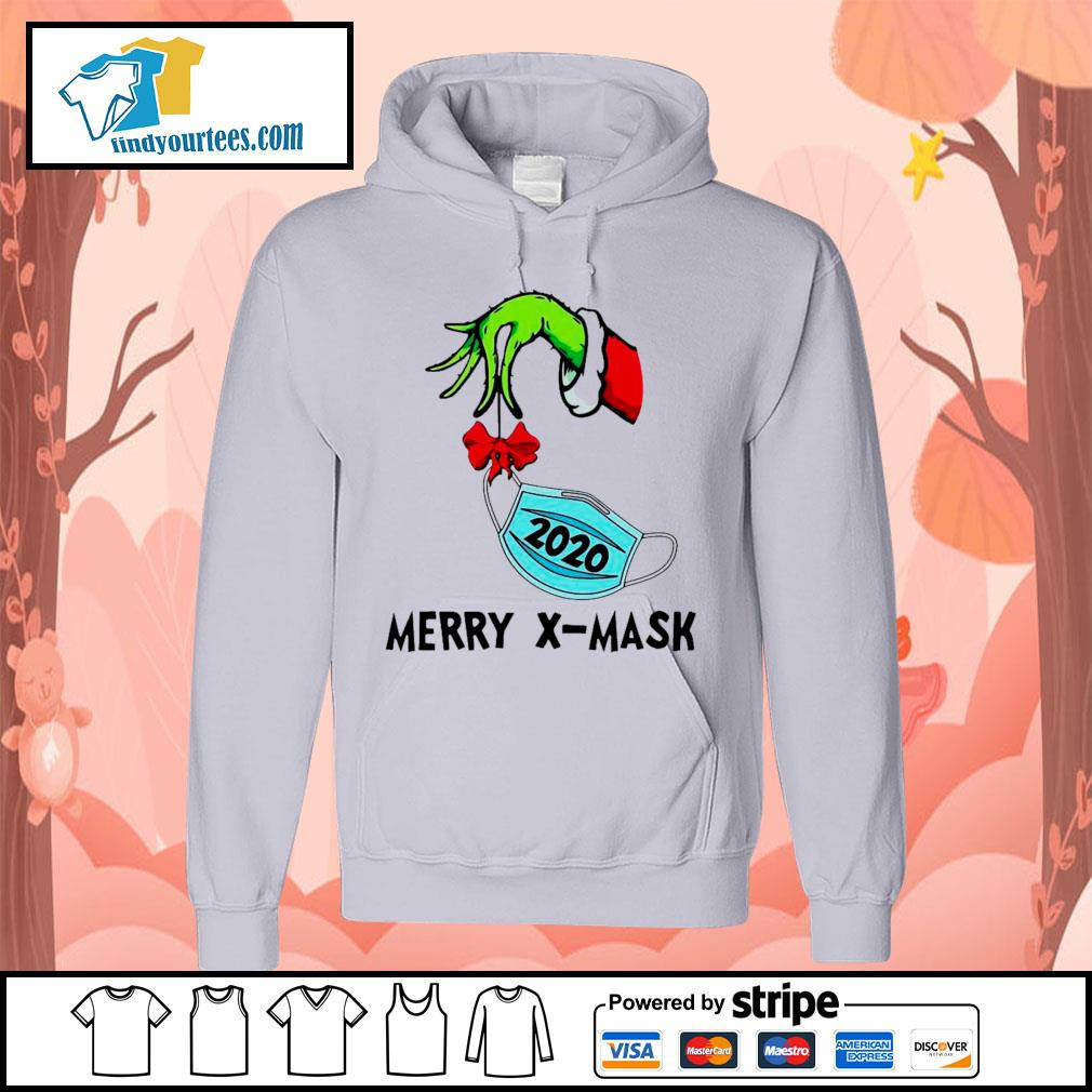 2020 Grinch holding face mask Merry X-Mask shirt, sweater Hoodie