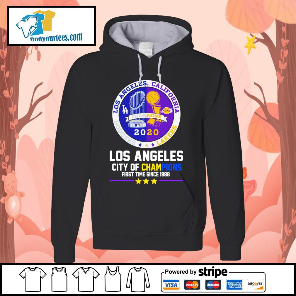 2020 Los Angeles city of champions first time since 1988 s Hoodie