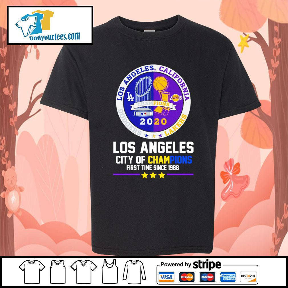 2020 Los Angeles city of champions first time since 1988 s Kid-T-shirt