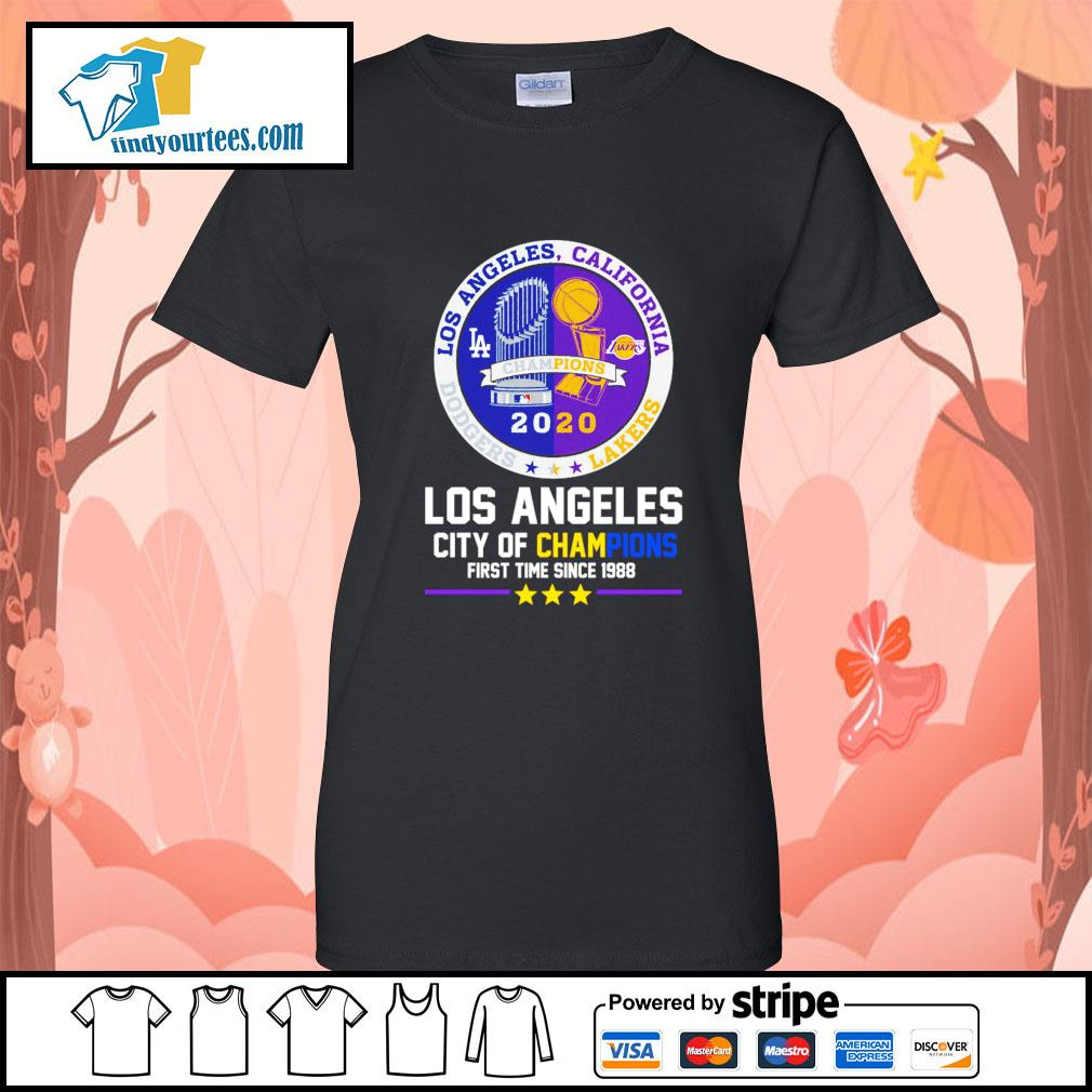 2020 Los Angeles city of champions first time since 1988 s Ladies-Tee