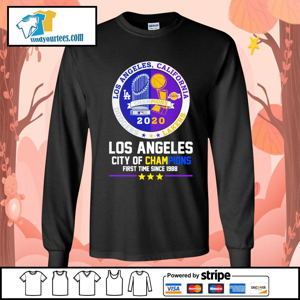 2020 Los Angeles city of champions first time since 1988 s Long-Sleeves-Tee