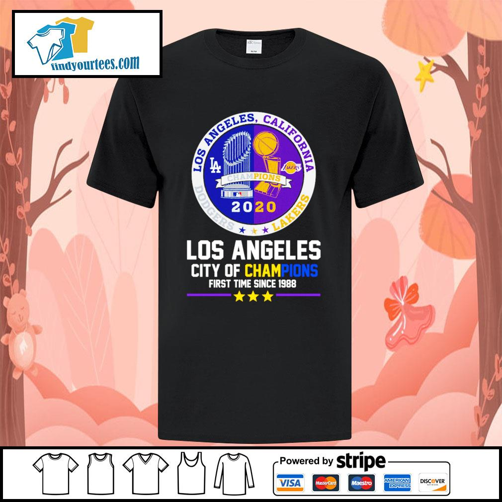 2020 Los Angeles city of champions first time since 1988 shirt