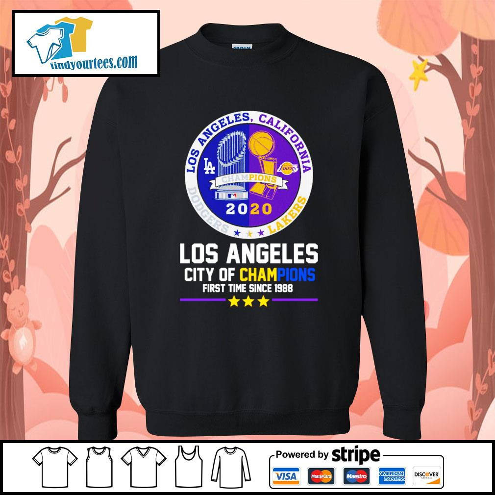 2020 Los Angeles city of champions first time since 1988 s Sweater