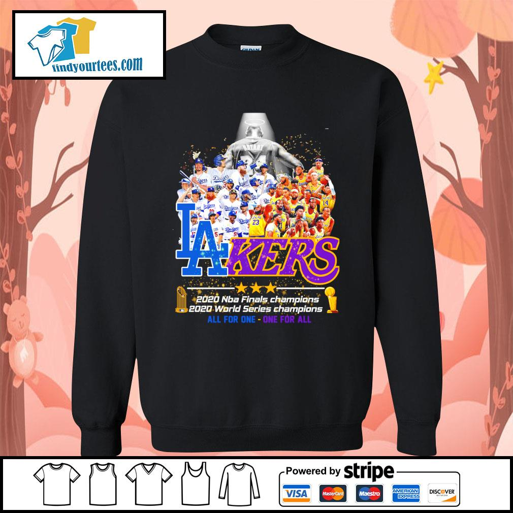 2020 Los Angeles Dodgers and Los Angeles Lakers all for one - one for all s Sweater