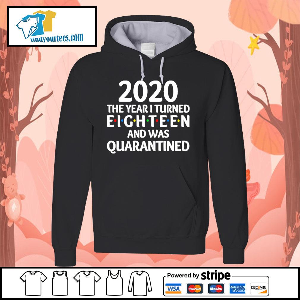 2020 the year I turned eighteen and was quarantined s Hoodie