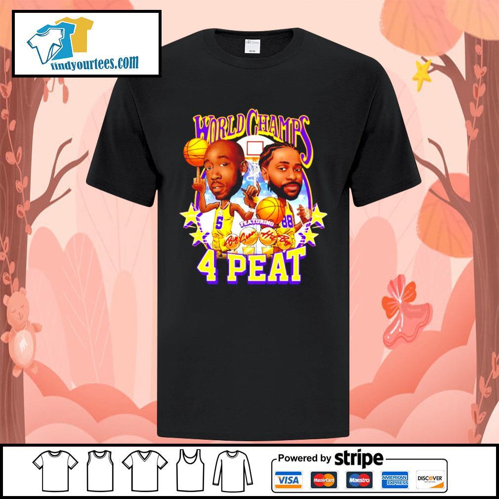 Freddie gibbs world champs 4 peat Los Angeles Dodgers shirt