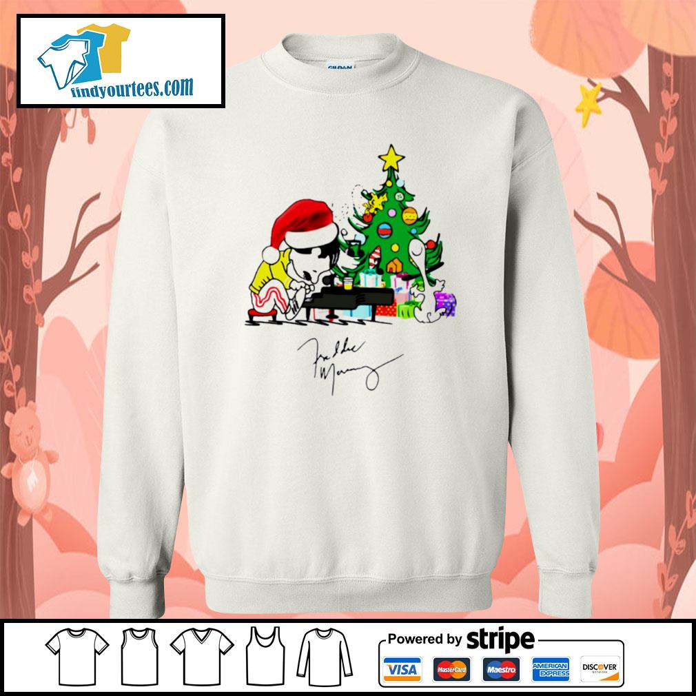 Freddie Mercury playing piano Christmas shirt, sweater Sweater