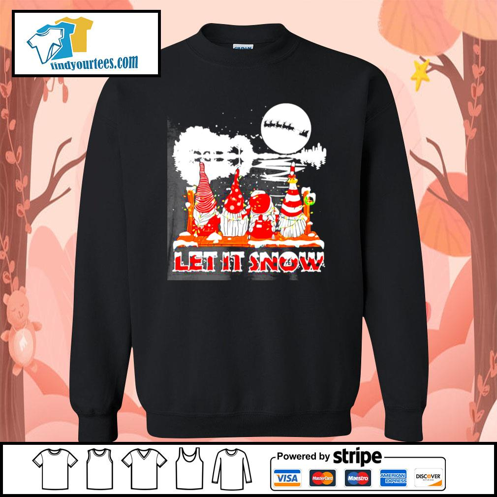 Guitar Gnomes Let It Snow Christmas shirt, sweater Sweater