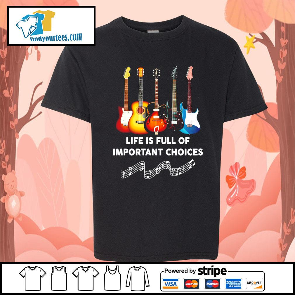 Guitar life is full of important choices s Kid-T-shirt