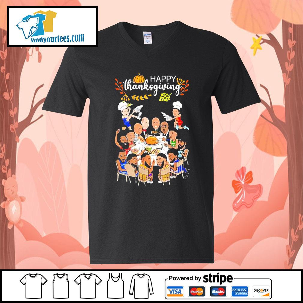 Happy thanksgiving Los Angeles world pumpkin s V-neck-T-shirt