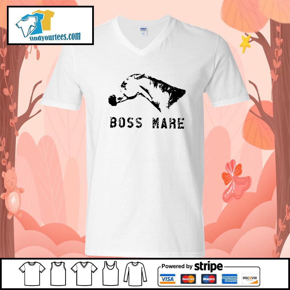 Horse boss mare s V-neck-T-shirt