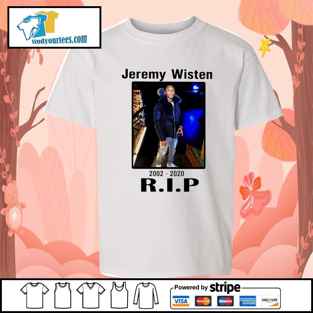 Jeremy Wisten 2002 2020 rip s Kid-T-shirt