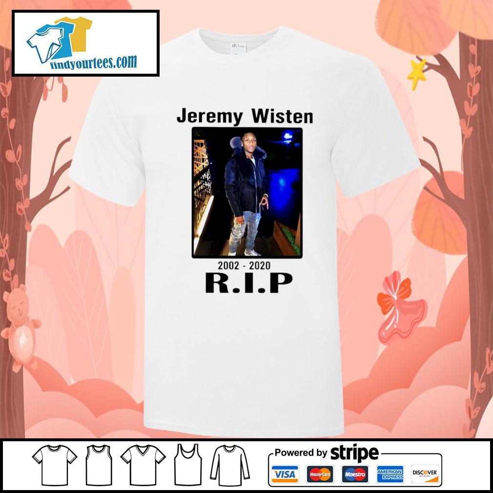 Jeremy Wisten 2002 2020 rip shirt
