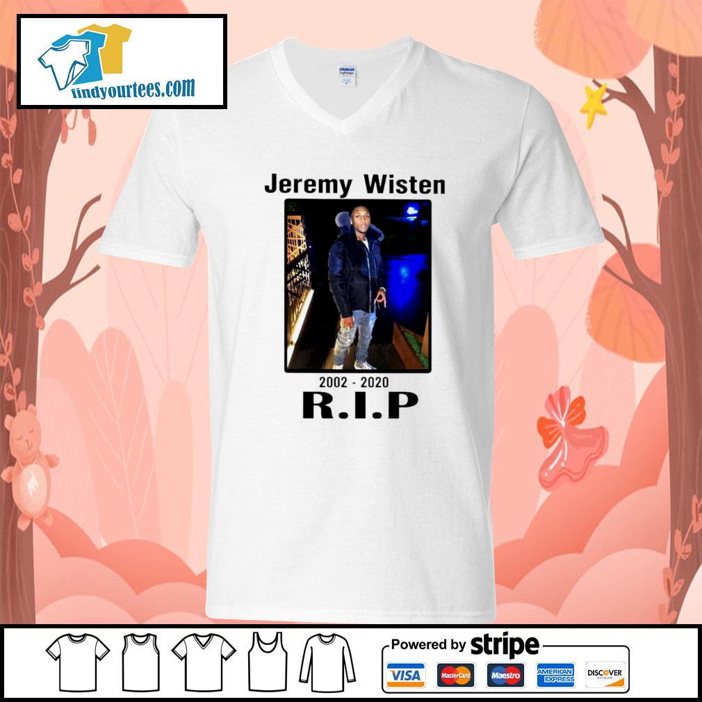 Jeremy Wisten 2002 2020 rip s V-neck-T-shirt