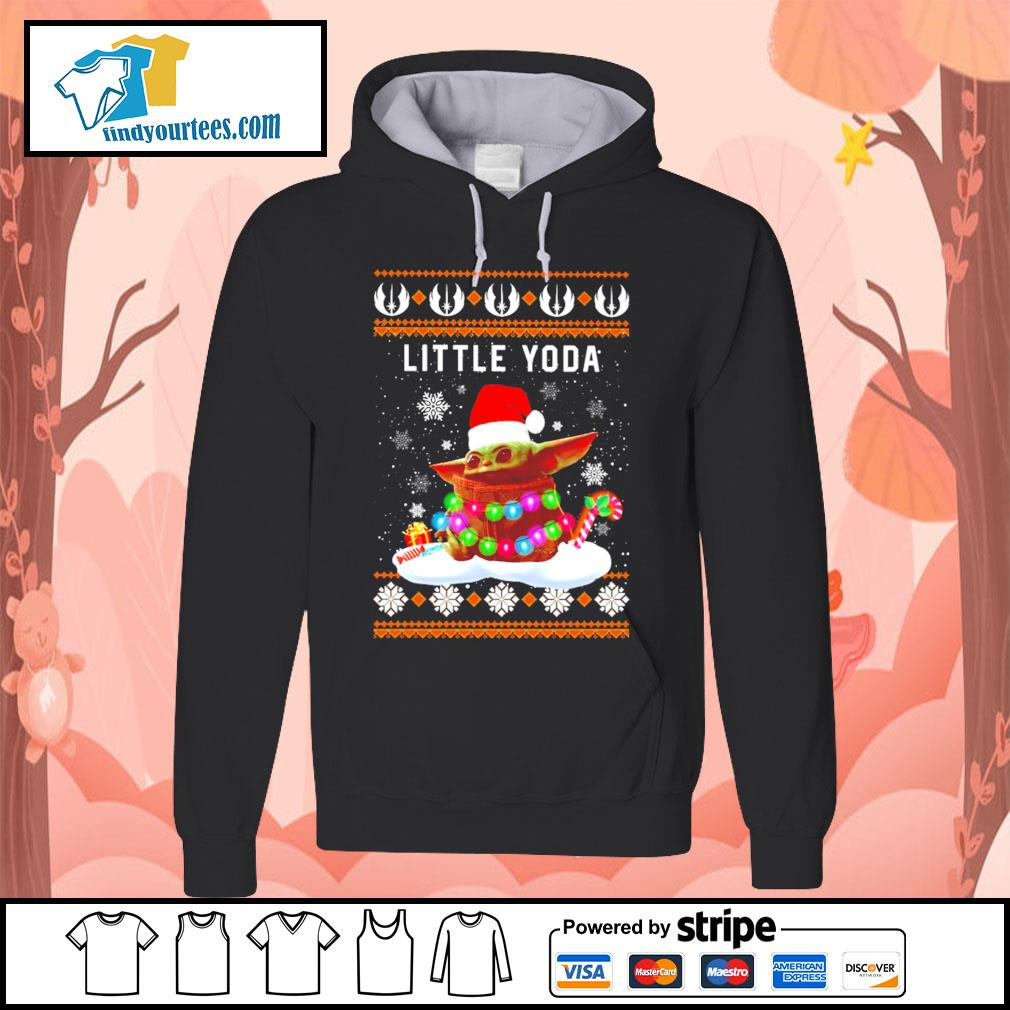 Merry Christmas little Baby Yoda shirt, sweater Hoodie