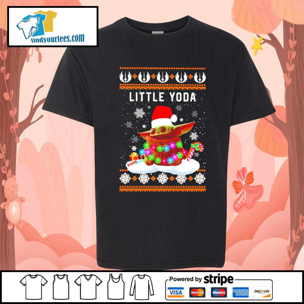 Merry Christmas little Baby Yoda shirt, sweater Kid-T-shirt