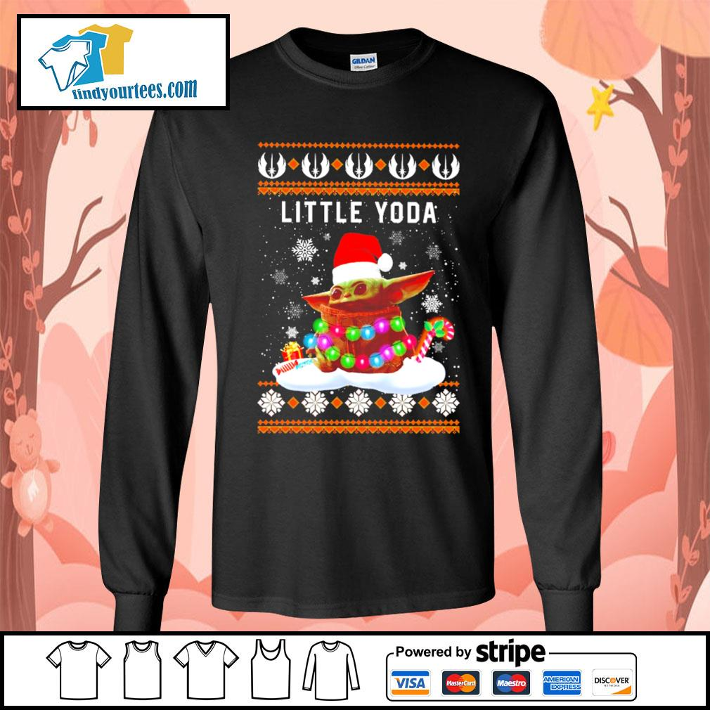 Merry Christmas little Baby Yoda shirt, sweater Long-Sleeves-Tee