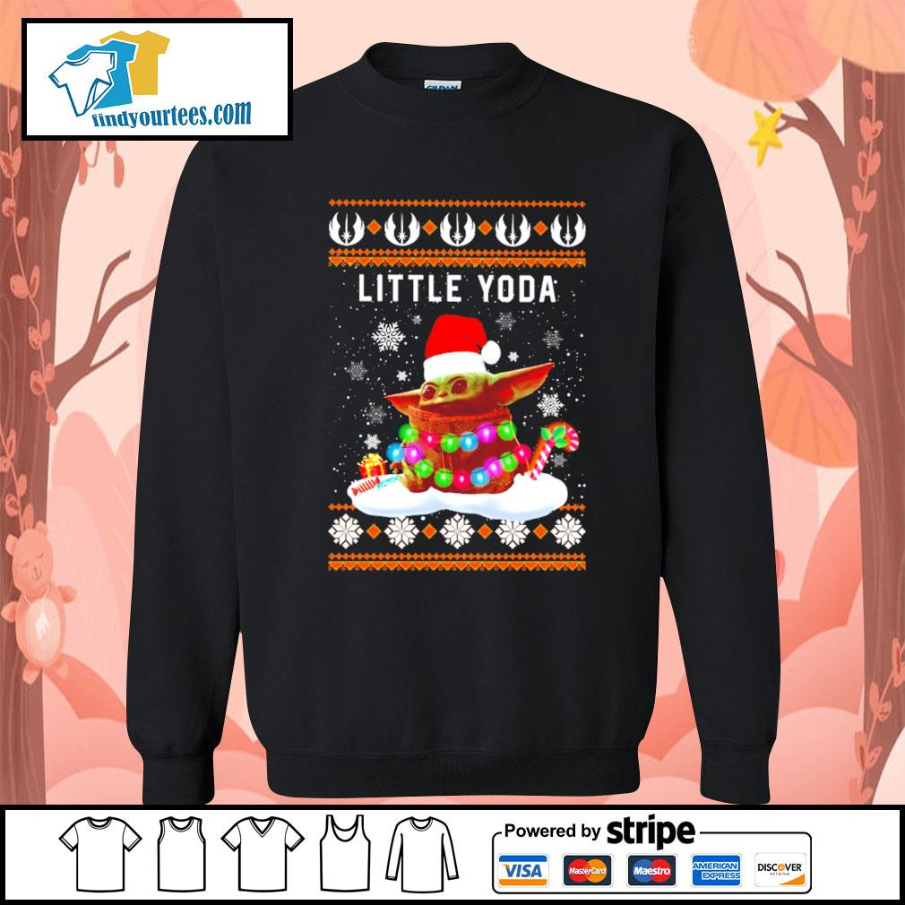 Merry Christmas little Baby Yoda shirt, sweater Sweater