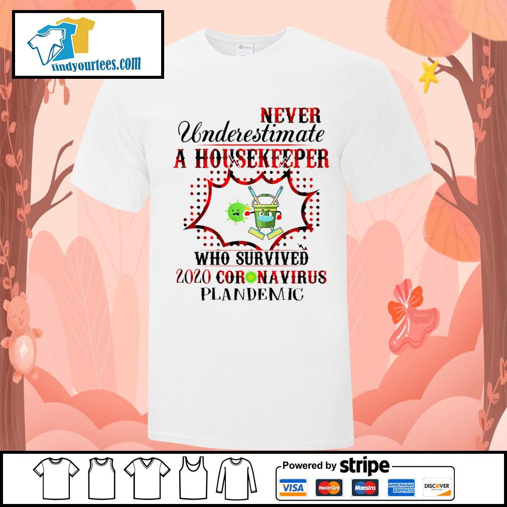 Never underestimate a housekeeper who survived 2020 Coronavirus plandemic shirt