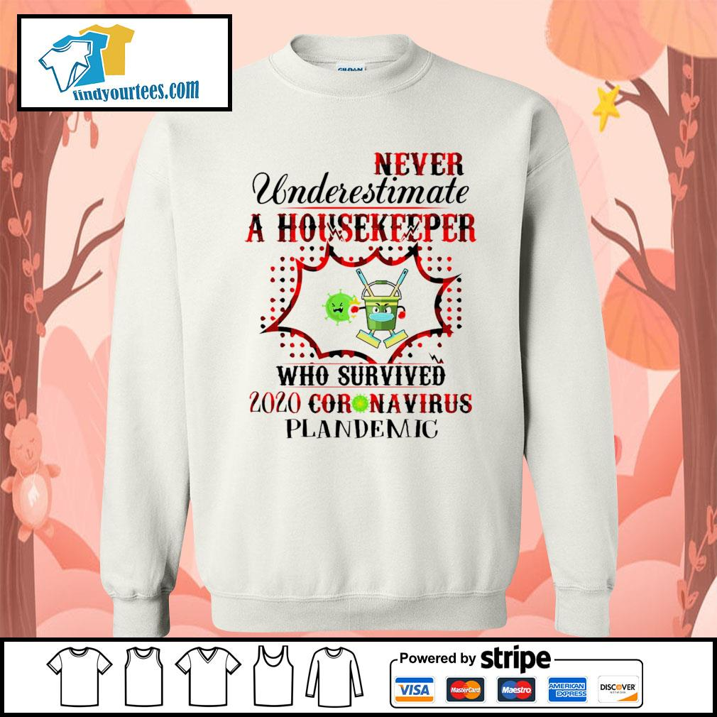Never underestimate a housekeeper who survived 2020 Coronavirus plandemic s Sweater