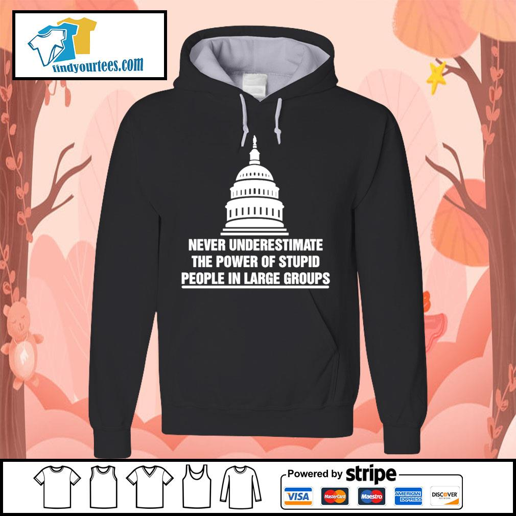 Never underestimate the power of stupid people in large groups s Hoodie