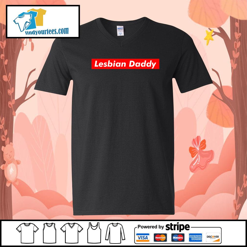 Official Lesbian Daddy s V-neck-T-shirt