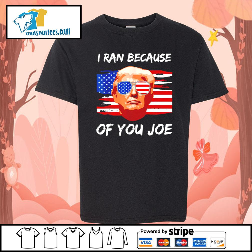 Trump 2020 I ran because of you Joe Biden s Kid-T-shirt