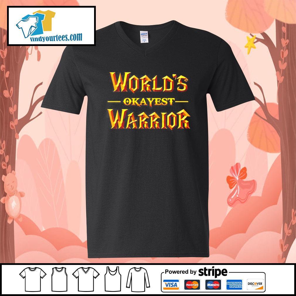 World's okayest warrior s V-neck-T-shirt